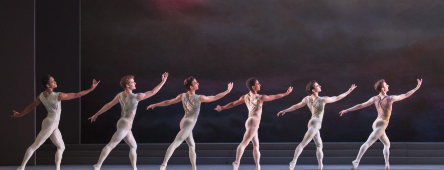 RHAPSODY ;  Music by Rachmaninoff ;  Choreography by Ashton ;  Artists of The Royal Ballet ;  Set and costume design by Jessica Curtis ;  Lighting design by Neil Austin ;  The Royal Ballet ;  At the Royal Opera House, London, UK ;  6 February 2014 ;  Credit: Johan Persson / Royal Opera House / ArenaPAL ;